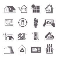 Icona della casa a risparmio energetico