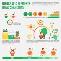 Insieme di idee di infografica