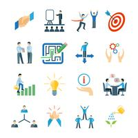 Set piatto icone di mentoring
