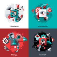 Brainstorming e set di lavoro di squadra vettore