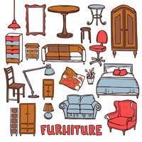 Set di mobili per la casa vettore