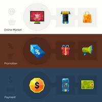 Banner poligonali per l'e-commerce vettore