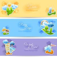 Set di banner di sfondo meteo