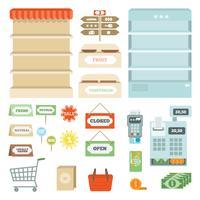Set di elementi del supermercato
