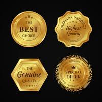 Distintivi in metallo dorato