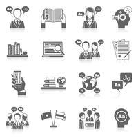 Icona di traduzione e dizionario vettore