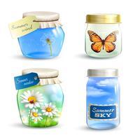 Set di vasi estivi vettore