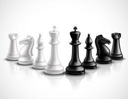 Illustrazione di pezzi degli scacchi vettore