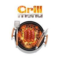 design del menu grill