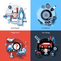 Set di riparazione auto vettore