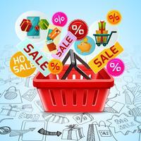 Shopping concetto di vendita vettore