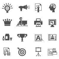 Icone di branding nere