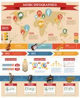 Set di infografica musicali vettore