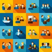 Icone piatte di partenariato