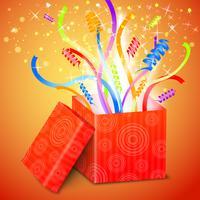 Aprire la confezione regalo vettore