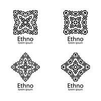 Segni etnici ed elementi di design vettore
