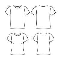 modello di t-shirt vettore