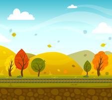 Gioco 2d Park Landscape vettore