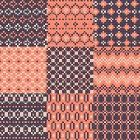 Set di pixel di colore di sfondo vettore