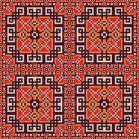 Sfondo senza soluzione di continuità nei colori arancioni, viola, rossi e gialli vettore