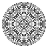 Forma rotonda vettoriale ornamentale isolato su bianco.