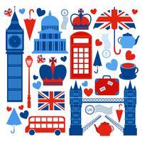 Collezione di simboli di Londra vettore