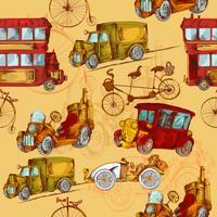 Trasporto vintage senza soluzione di continuità vettore