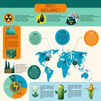 Insieme di Infographics di energia vettore