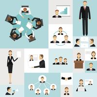 Icone di riunione d'affari