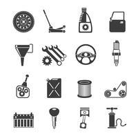 Icone di servizio automatico nere