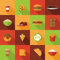 Set di icone di fast food