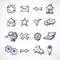 Icone di schizzo di Internet