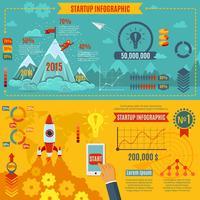 Set di infografica di avvio