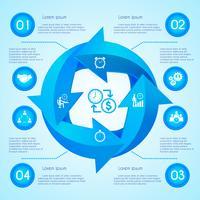 Freccia cerchio infografica vettore