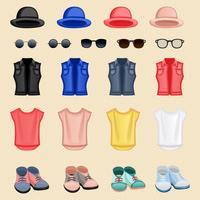 Accessori per ragazza hipster vettore