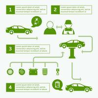 Modello di layout di infographics di servizio auto auto brochure