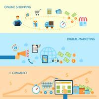 Shopping banner di e-commerce vettore