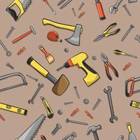 Modello senza cuciture degli strumenti del carpentiere vettore
