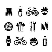 Set di icone della bicicletta vettore