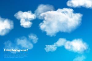 Cielo nuvole sullo sfondo vettore