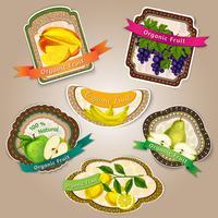 Etichette di frutta fresca