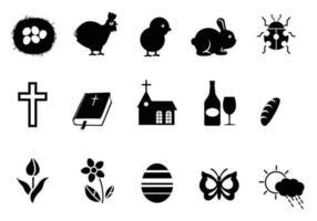 Pacchetto di simboli vettoriali di Pasqua