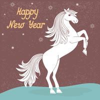 Anno di cavallo vettore