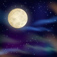 Sfondo del cielo notturno vettore