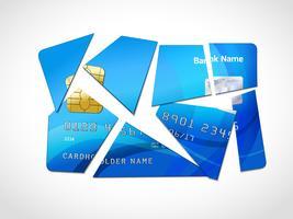 Simbolo di fallimento del debito vettore