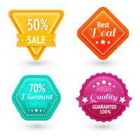 Set di segni e simboli di vendita vettore