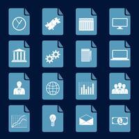 Set di icone di infografica vettore