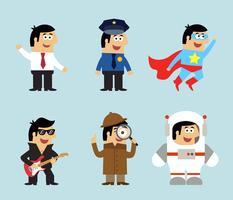 Set di icone di professioni vettore