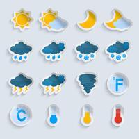 Set di carta di previsioni meteo