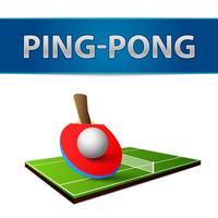 Emblema delle racchette da ping-pong ping-pong vettore